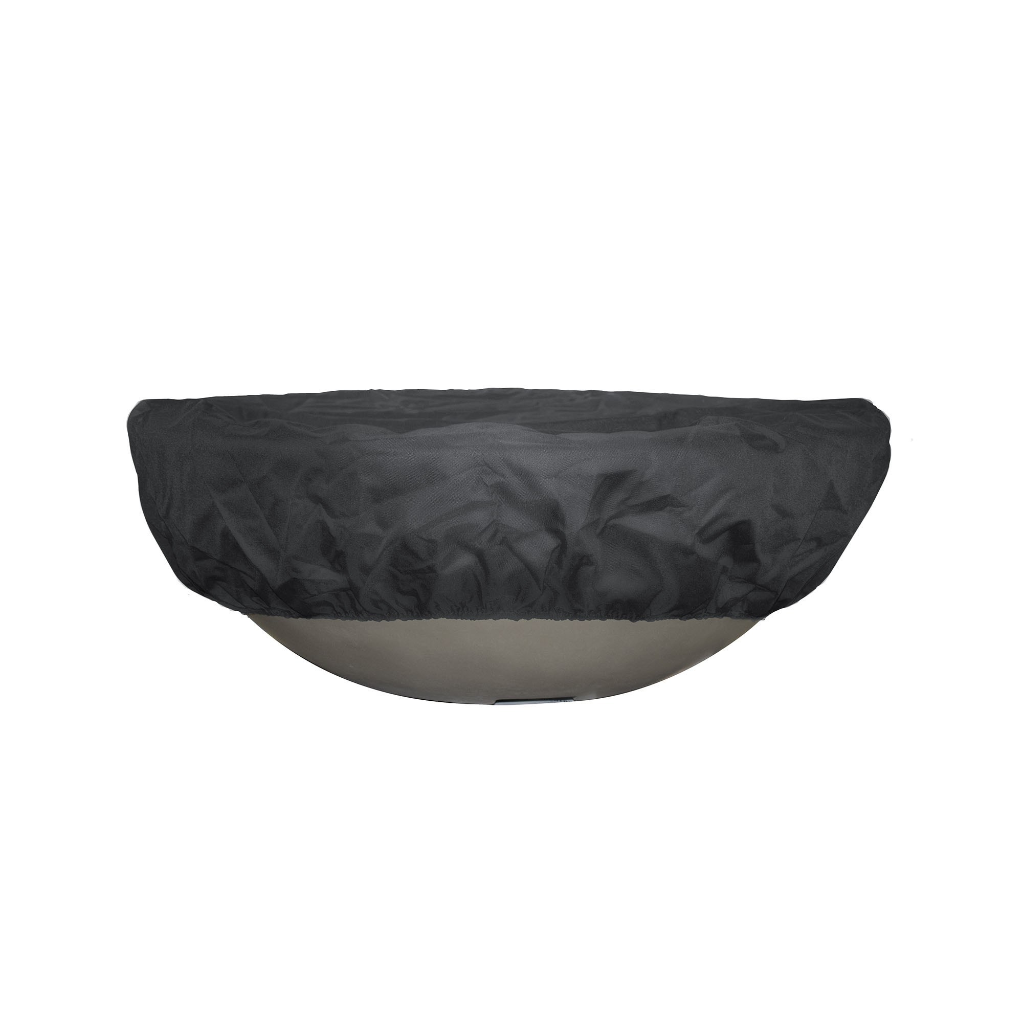 42 Inch Round Fire Pit and Bowl Canvas Cover - Black
