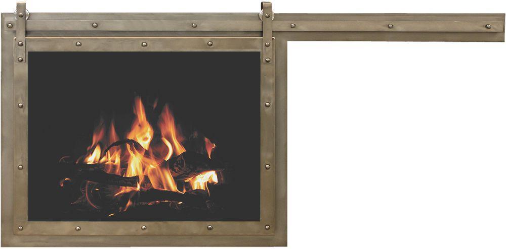 Paterson Single Sliding Masonry Replacement Fireplace Door