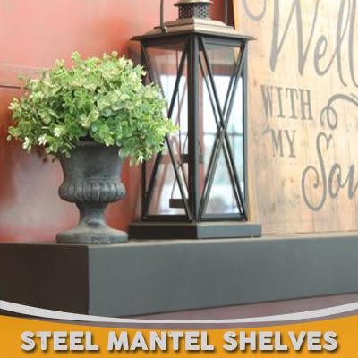 Steel Mantel Shelves