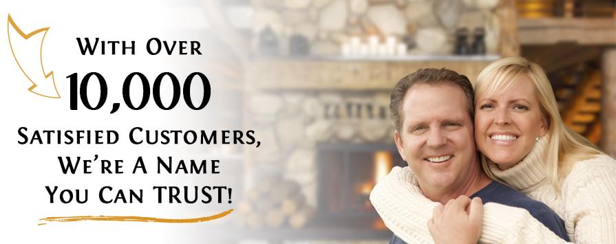 Over 10,000 Satisfied customers at Fireplace Doors Online
