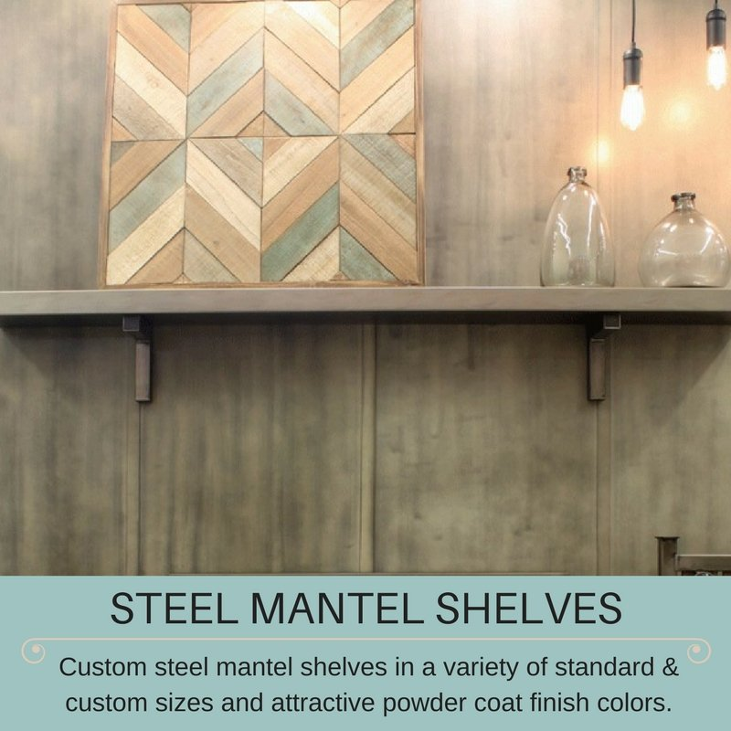 Fireplace Doors Online - Steel Mantel Shelves