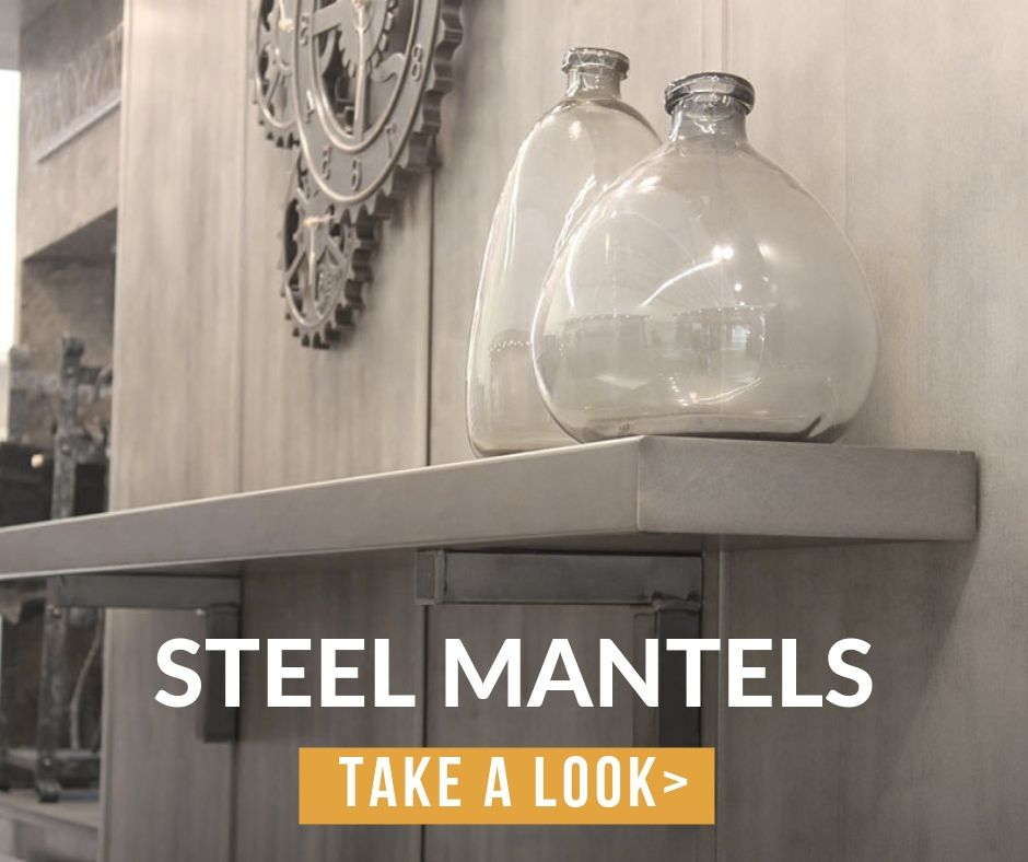 Subcategory: Steel Mantel Shelves