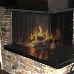 Corner Fireplace Screens