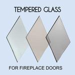 Tempered Fireplace Door Glass