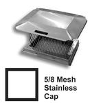5/8 Inch Mesh Round Stainless Steel Chimney Caps