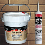 Refractory cement and fireplace mortar