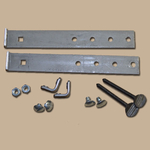 Mounting hardware kits for fireplace doors