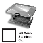 "5/8"" Mesh Square Stainless Steel Chimney Caps"
