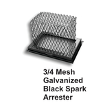 "3/4"" Mesh Black Galvanized Steel Spark Arrestors"