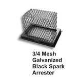"3/4"" Mesh Black Galvanized Steel Spark Arrestors"