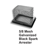 "5/8"" Mesh Black Galvanized Steel Spark Arrestor"