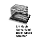 "5/8"" Mesh Black Galvanized Steel Spark Arrestor"