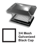 "3/4"" Mesh Black Square Galvanized Steel Chimney Caps"
