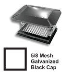 "5/8"" Mesh Black Square Galvanized Steel Chimney Caps"