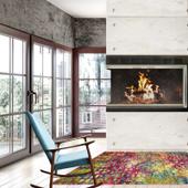 Custom Corner Fireplace Door