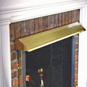 Fireplace Hood In Brass Finish