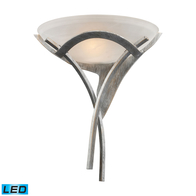 1-Light Led Aurora Sconce in Tarnished Silver