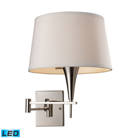 1-Light Led Swingarm Wall Lamp in Polished Chrome