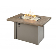 Driftwood Havenwood Gas Fire Pit Table with Grey Base