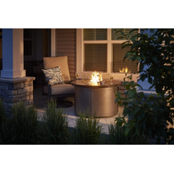 Edison Round Gas Fire Pit Table