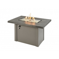 Stone Grey Havenwood Gas Fire Pit Table with Grey Base
