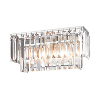 2-Light Palacial Vanity Sconce with Satin Glass