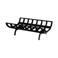 30 Inch Cast Iron Wood Grate For Corner And See-Through Fireplaces