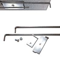 angled mesh curtain rods for fireplaces