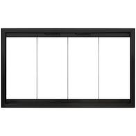 Firelyte  Zero Clearance Fireplace Door in Matte Black - Bifold Style Doors