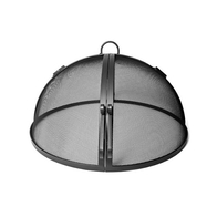USA Made Carbon Steel Hinged Round Fire Pit Screen