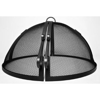 Round Stainless Steel Hinged Fire Pit Screen