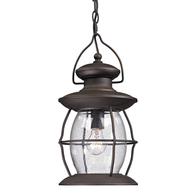Village Lantern Outdoor Pendant Light