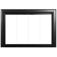 Bungalow Fireplace Door in Satin Black