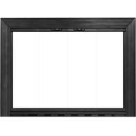 Sion Fireplace Door in Textured Black