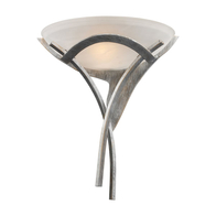 1-Light Aurora Sconce in Tarnished Silver