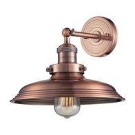 1-Light Newberry Wall Sconce in Antique Copper