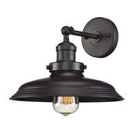 1-Light Newberry Wall Sconce in Oil Rubbed Bronze & Matching Shade