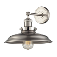 1-Light Newberry Wall Sconce in Satin Nickel