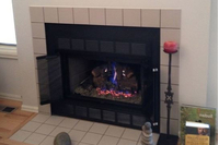 Look at the beauty of the Pelham fireplace doors installed in our customer's home!