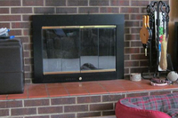 Slimline glass fireplace door - a customer photo