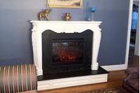Pelham flat black zero clearance fireplace door