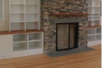 Silhouette Fireplace Door With Cabinet Doors