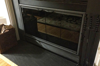 Call today and order your new zero clearance fireplace doors - This is a Pelham fireplace door on a customer's fireplace!
