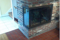 Cumberland Corner Fireplace Door!