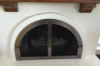 Cascade Arched Masonry Fireplace Door
