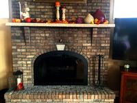 Cascade Bar Iron Arched Fireplace Door