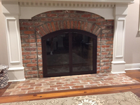 Cascade Arched Air Sealed Fireplace Door - Oil Rubbed Bronze Powder Coat