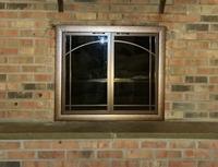 Brookfield Masonry Fireplace Door with Sunrise Window Pane and Twin Doors