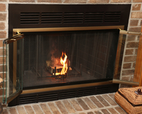 Belmont Antique Brass Zero Clearance Fireplace Door - A customer photo
