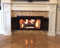 Aaron's fireplace door!